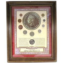 *Great Britain Coinage of King George VI 10-coin Set in Wooden Frame. This set features all denomina