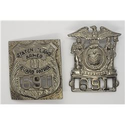 STATEN ISLAND ARMED GUARD PATROL BADGES