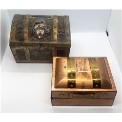 2-TREASURE BOX / CHEST KEEPSAKE BOXES