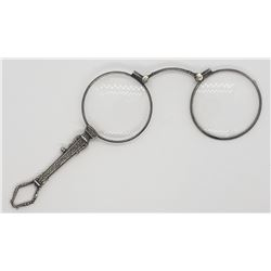 Antique Victorian Silver Folding Reading Glasses
