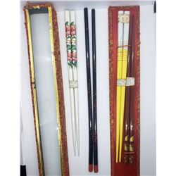 4-VINTAGE SETS OF MADE IN JAPAN CHOPSTICKS