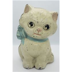VINTAGE HUBLEY STILL KITTEN CAST IRON BANK