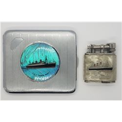 VINTAGE RMS QUEEN MARY CIGARETTE CASE WITH