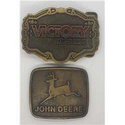 VICTORY EXPRESS AND JOHN DEERE BELT BUCKLES