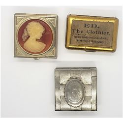 3-VINTAGE PILL BOXES: (1)CAMEO