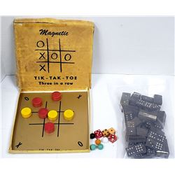 VTG TOY LOT: MAGNETIC TIK-TAK-TOE &