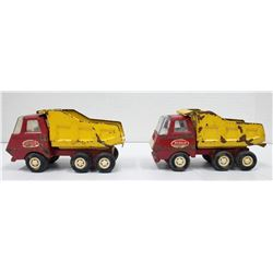 2-MINI TONKA DUMP TRUCKS