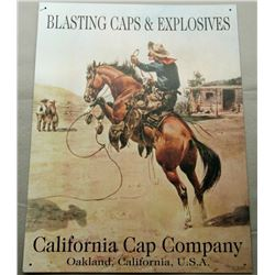 CALIFORNIA CAP COMPANY BLASTING CAPS & EXPLOSIVES