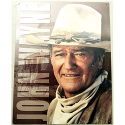 JOHN WAYNE TIN SIGN STAGE COACH