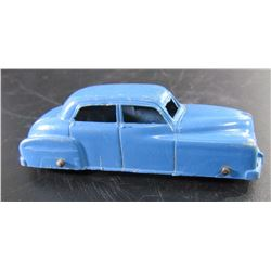 TOOTSIE TOY BLUE METAL SADAN
