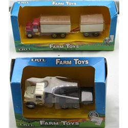 2 ERTL Farm Toys NIB Grain Truck W/PUP Implement