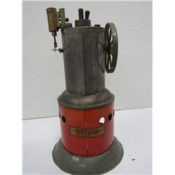 VINTAGE WEEDEN UPRIGHT TOY BOILER STEAM ENGINE
