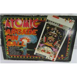 Vintage Atomic Arcade Pinball Table Top Game!