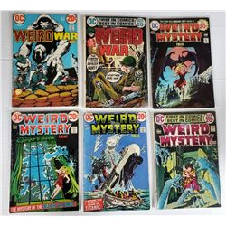 DC WEIRD MYSTERY TALES #1,2,3,14 1970's 20c ISSUES