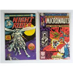 2-MARVEL COMICS: #4 NIGHT RIDER & #24