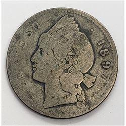 1897 REPUBLICA DOMINICANA 25 GRAMOS