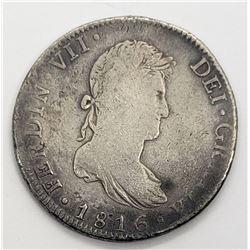 1816 FERDIN VII DEI GRATIA 8 Reales