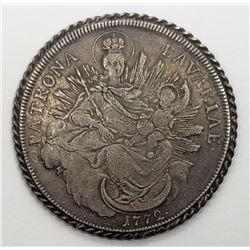 1772 Patrona Bavariae German States Silver Coin