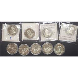 5-Republic of Liberia Ronald Reagan Coins
