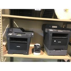 2 BROTHER MFC-8910DW PRINTERS & BROTHER LABEL PRINTER GL-710W