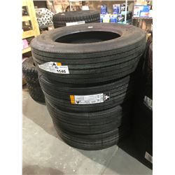 4 HERCULES TIRES H-903 255/70R22.5 *$5/TIRE ECO-FEE