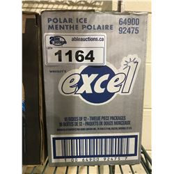 BOX OF APPROX. 216 EXCEL POLAR ICE GUM