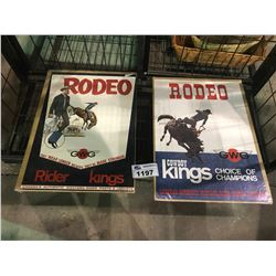 2 RODEO WESTERN THEMED POSTERS