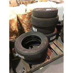 PALLET OF 6 ASSORTED TIRES *$5/TIRE ECO-FEE