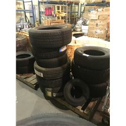 PALLET OF 10 ASSORTED TIRES *$5/TIRE ECO-FEE