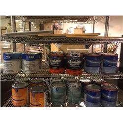 ASSORTED CANS OF PAINT AND PRIMER