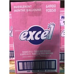 BOX OF 218 EXCEL BUBBLEMINT GUM