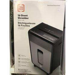 TRU RED BUSINESS ESSENTIALS 16-SHEET SHREDDER HEAVY USE
