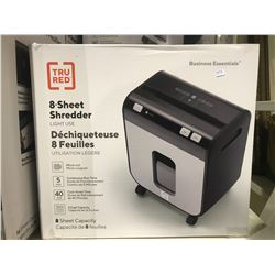 TRU RED BUSINESS ESSENTIALS 8-SHEET SHREDDER LIGHT USE