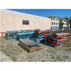 LARGE COLLECTION OF PALLET RACKING (40 UPRIGHTS & 2 PALLETS OF CROSSBEAMS)