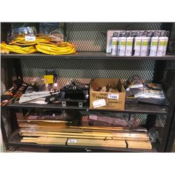 ASSORTED PAINT BRUSHES, ROLLERS, TRAYS, BLANKETS, & BEER RELATED ITEMS