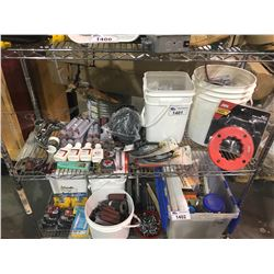 ASSORTED TOOLS, PARTS, GREASE, & MORE