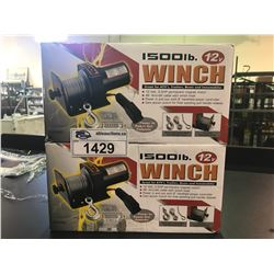 2 12V 1500LB ELECTRICAL WINCHES