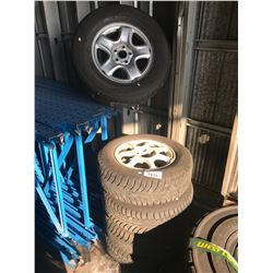 4 GISLAVED NORD FROST 5 205 70R15TIRES ON RIMS & 1 MAXTOUR 235 70R16 TIRE