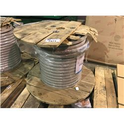 "SPOOL OF APPROX. 1"" HEAVY DUTY COPPER INDUSTRIAL CABLE APPROX 650LBS"