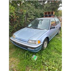 1990 HONDA CIVIC, BLUE, HATCHBACK, GAS, AUTOMATIC *TMU, DEAD BATTERY MUST TOW*