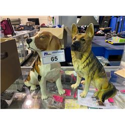 """PAIR OF BESWICK DOG FIGURINES APPROX 13"""" TALL"""