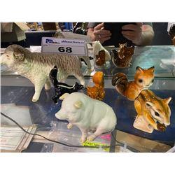 LOT OF 5 GOEBEL ANIMAL FIGURINES AND ONE BELIK ANIMAL FIGURINE