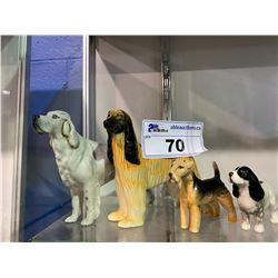 LOT OF 4 DOG BESWICK FIGURINES