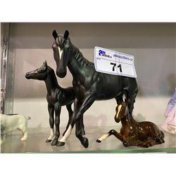 LOT OF 3 BESWICK HORSE FIGURINES