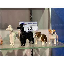 LOT OF 4 BESWICK DOG FIGURINES