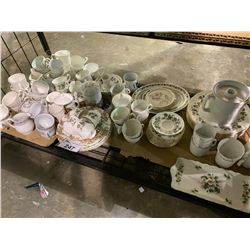 SHELF LOT OF MISC. CHINA INCLUDING SOME ROYAL STANDARD CHINA