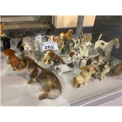 LARGE LOT OF ANIMAL FIGURINES INCLUDING SOME BESWICK