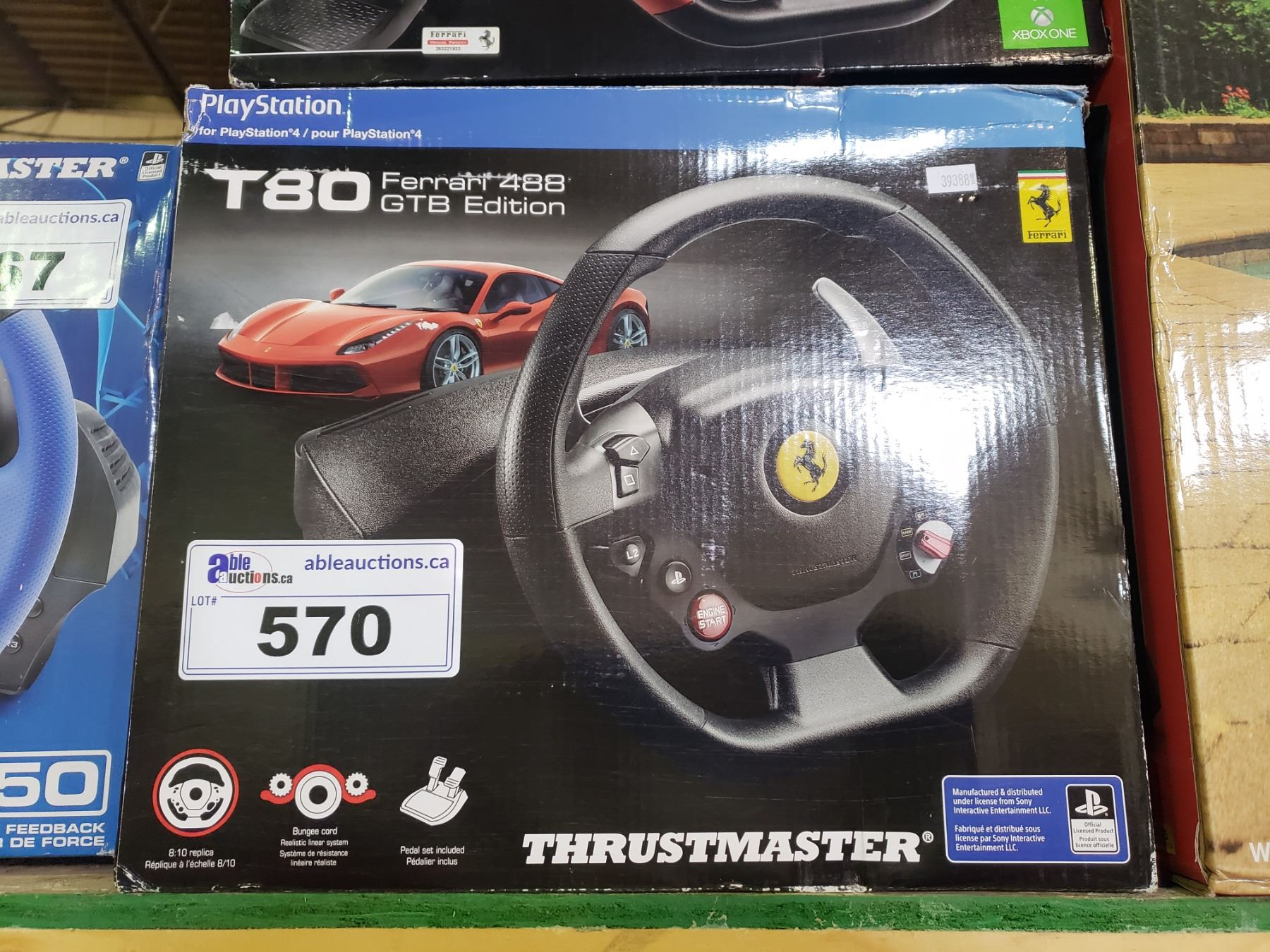 Thrustmaster T80 Ferrari 488 Gtb Edition Racing Wheel For Ps4 Able Auctions