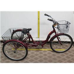Schwinn Meridan Adult Trike S4002 w/ Front & Rear Basket Storage