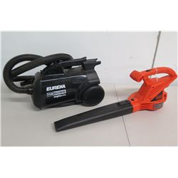 Eureka The Boss Mighty Mate Vacuum & Black & Decker LB700 Leaf Blower